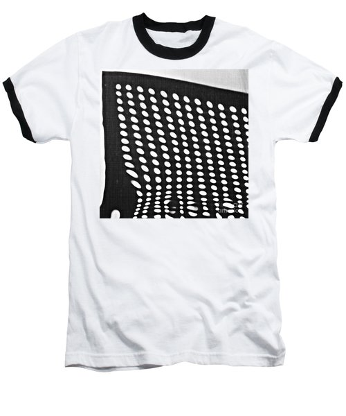Baseball T-Shirt featuring the photograph Reflection On 42nd Street 3 Grayscale by Sarah Loft