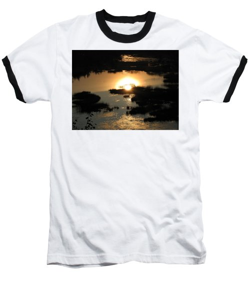 Baseball T-Shirt featuring the photograph Reflections At Sunset by Barbara Yearty