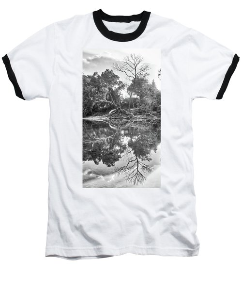 Reflections In Black And White Baseball T-Shirt