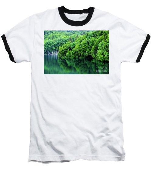 Reflections Of Plitvice, Plitvice Lakes National Park, Croatia Baseball T-Shirt