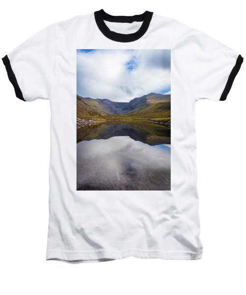 Reflections Of The Macgillycuddy's Reeks In Lough Eagher Baseball T-Shirt by Semmick Photo