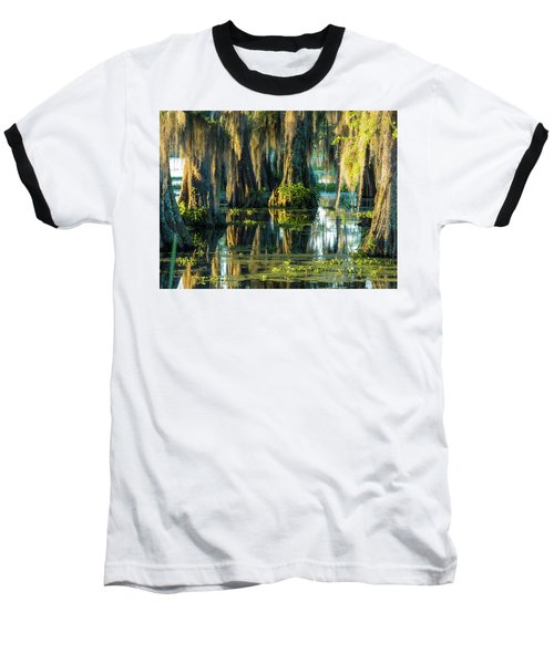 Reflections Of The Times Baseball T-Shirt by Kimo Fernandez