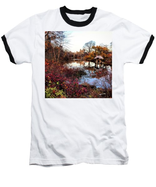 Baseball T-Shirt featuring the photograph Reflections On A Winter Day - Central Park by Madeline Ellis