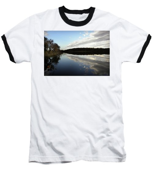 Baseball T-Shirt featuring the photograph Reflections On The Lake by Chris Berry
