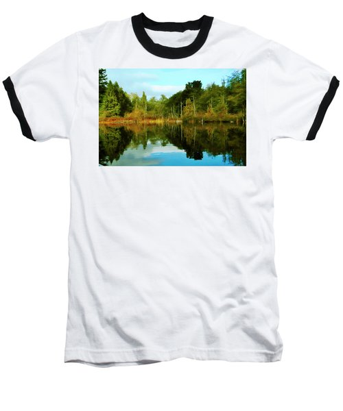 Baseball T-Shirt featuring the digital art Reflections by Timothy Hack