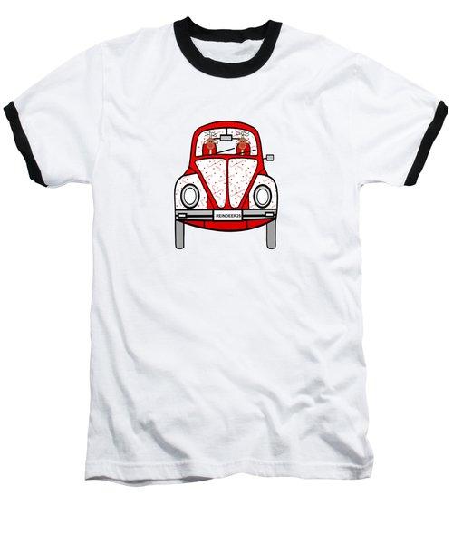 Reindeer Transportation Baseball T-Shirt by Kathleen Sartoris