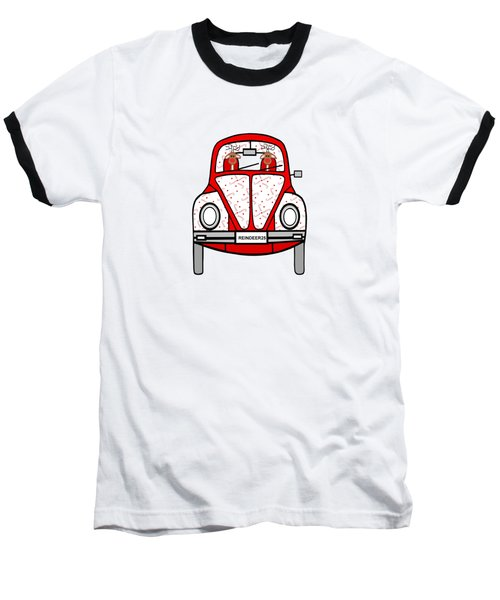 Reindeer Transportation Baseball T-Shirt