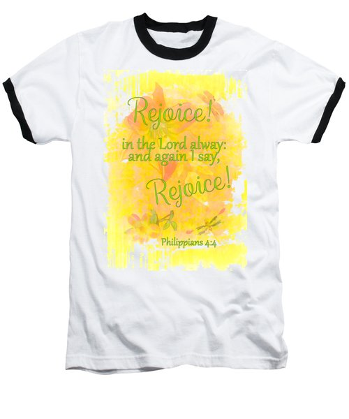 Rejoice Baseball T-Shirt by Larry Bishop