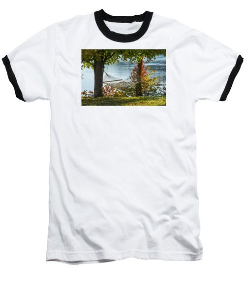 Relax By The Water Baseball T-Shirt by Alana Ranney
