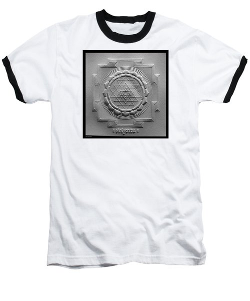 Relief Shree Yantra Baseball T-Shirt by Suhas Tavkar