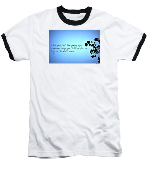Remember Baseball T-Shirt by Artists With Autism Inc