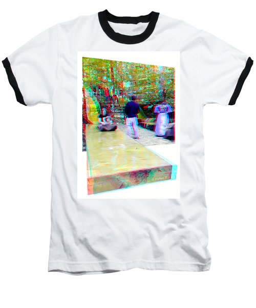 Baseball T-Shirt featuring the photograph Renaissance Slide - Red-cyan 3d Glasses Required by Brian Wallace