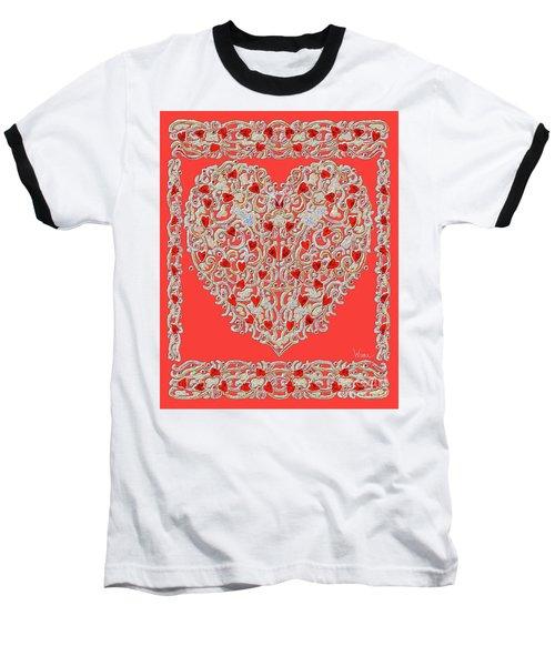 Renaissance Style Heart Baseball T-Shirt