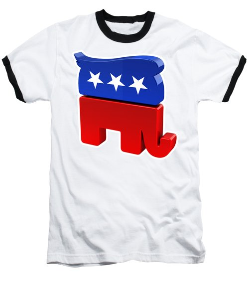 Republican Elephant With Trump Hair Baseball T-Shirt by Carsten Reisinger