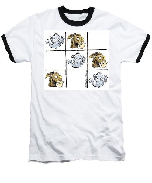 Republicans Win Tic Tac Toe Baseball T-Shirt