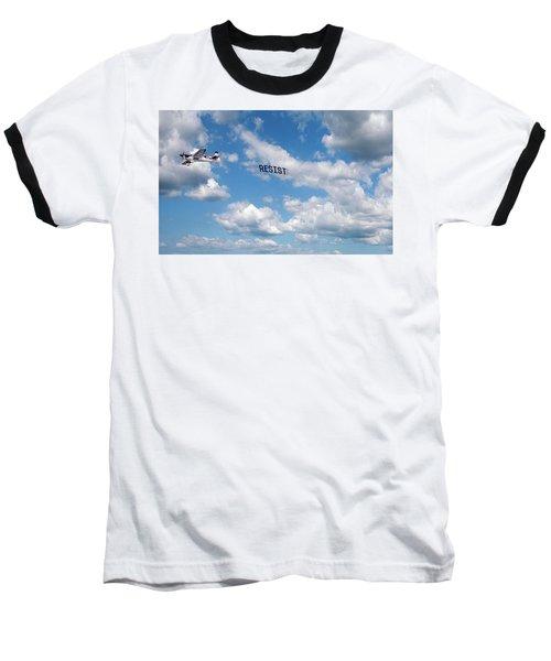 Resist Airplane Baseball T-Shirt