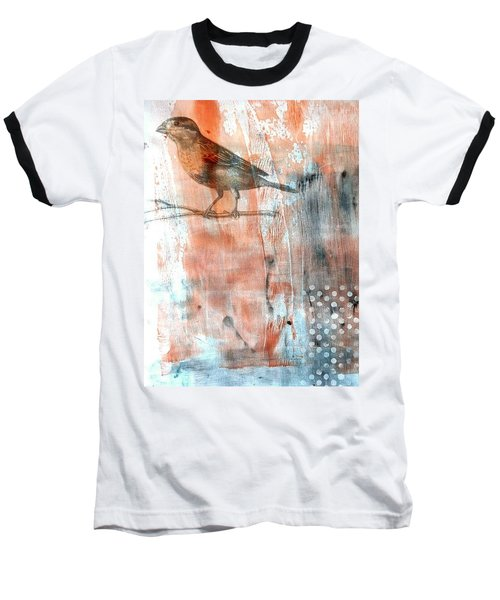 Baseball T-Shirt featuring the mixed media Restful Moment by Rose Legge