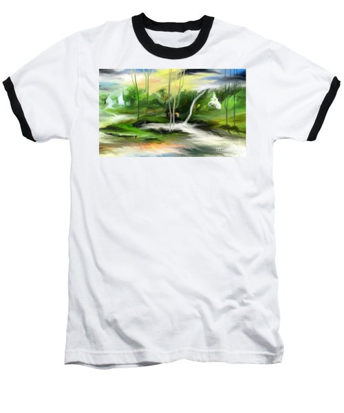 Baseball T-Shirt featuring the painting Retreat by Rushan Ruzaick