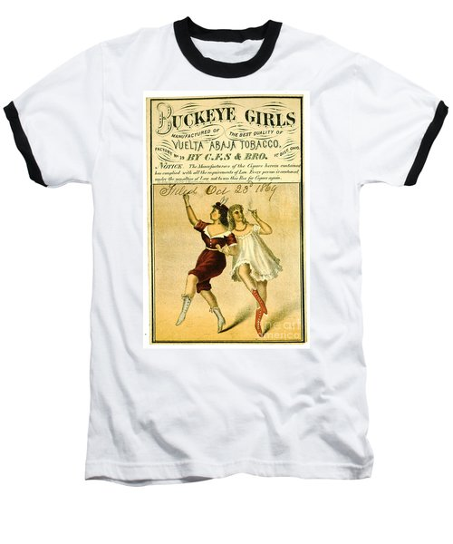 Baseball T-Shirt featuring the photograph Retro Tobacco Label 1869 F by Padre Art