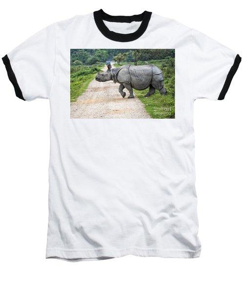Rhino Crossing Baseball T-Shirt