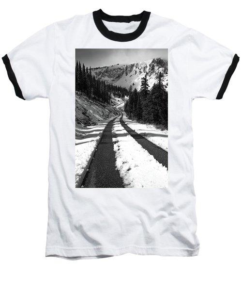 Ribbon To The Unknown Monochrome Art By Kaylyn Franks Baseball T-Shirt