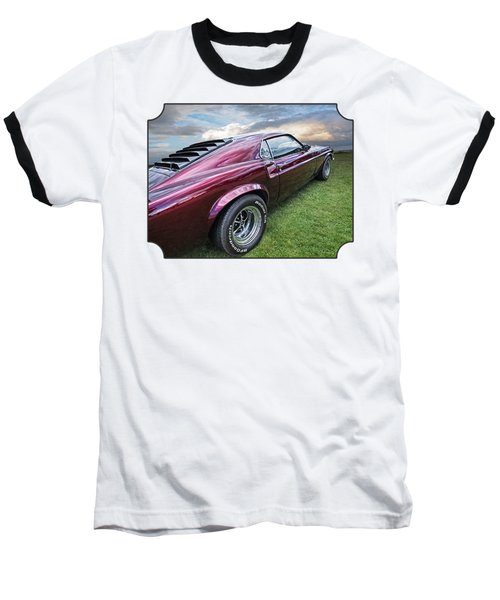 Rich Cherry - '69 Mustang Baseball T-Shirt by Gill Billington