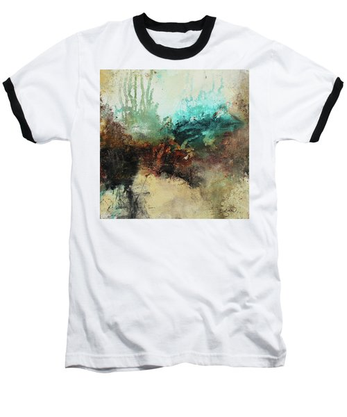 Rich Earth Tones Abstract Not For The Faint Of Heart Baseball T-Shirt by Patricia Lintner