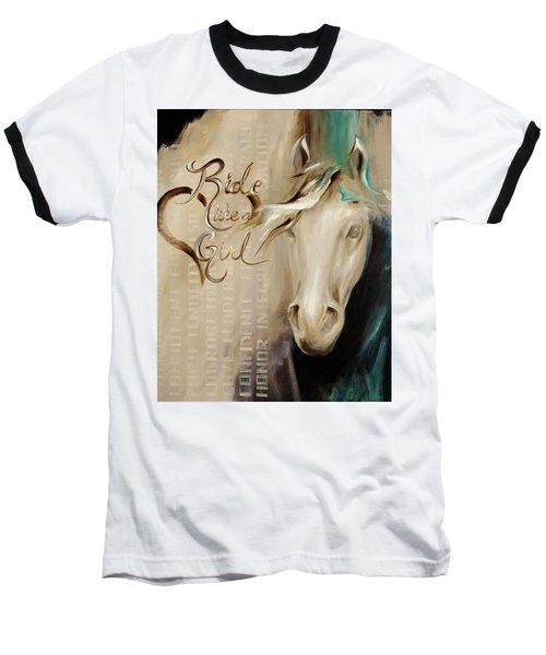 Ride Like A Girl 16x20 Baseball T-Shirt