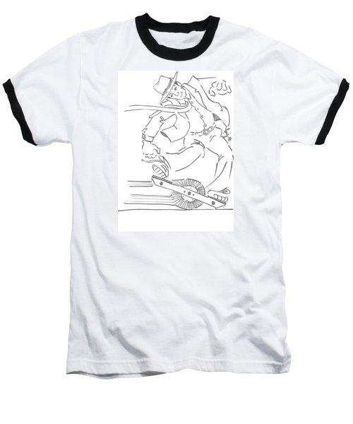 Ride One Wheel Cartoon - Never Be Late Again Baseball T-Shirt
