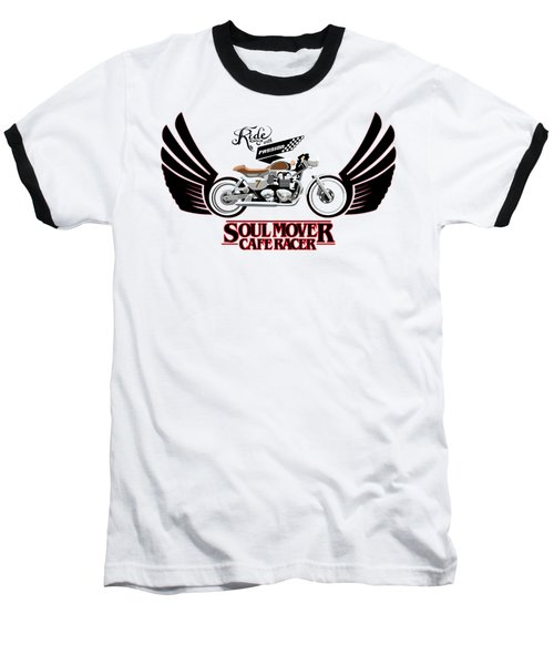 Ride With Passion Cafe Racer Baseball T-Shirt