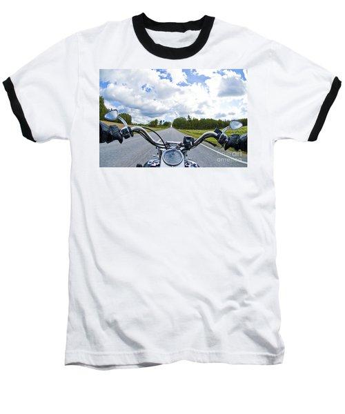 Riders Eye View Baseball T-Shirt by Micah May