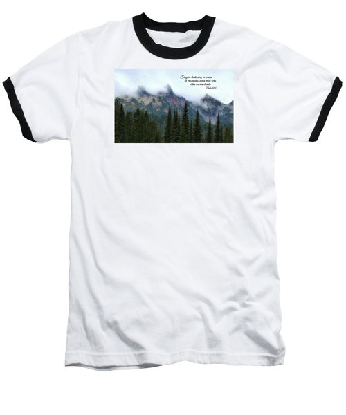 Baseball T-Shirt featuring the photograph Rides On The Clouds by Lynn Hopwood