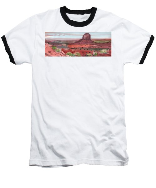 Right Mitten Panorama Baseball T-Shirt by Donald Maier