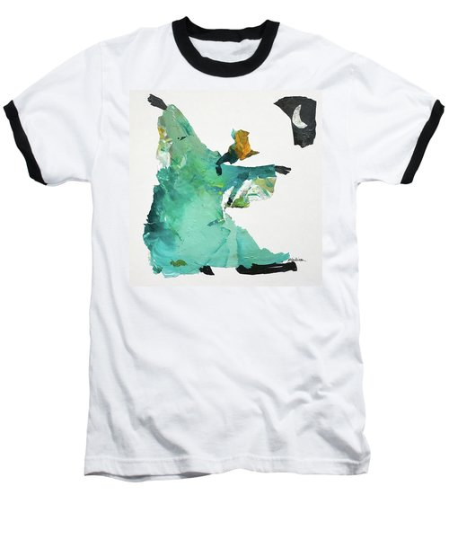 Baseball T-Shirt featuring the painting Ring Shout Dancer by Mary Sullivan