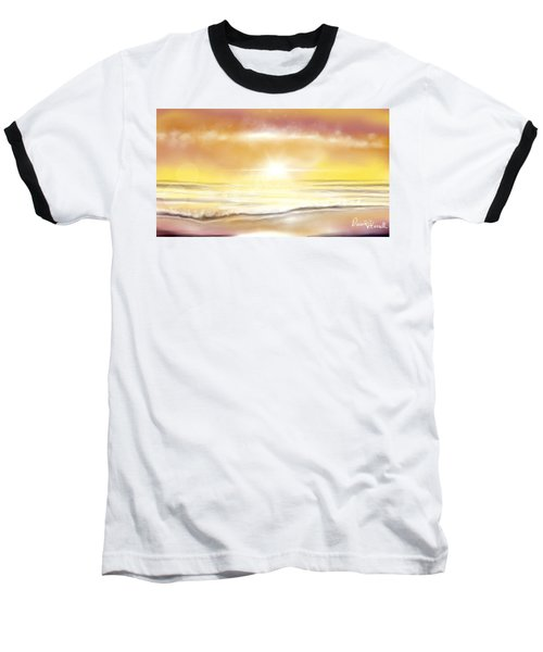 Baseball T-Shirt featuring the painting Rise And Shine by Dawn Harrell