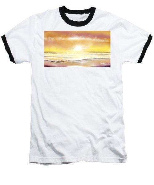Rise And Shine Baseball T-Shirt by Dawn Harrell