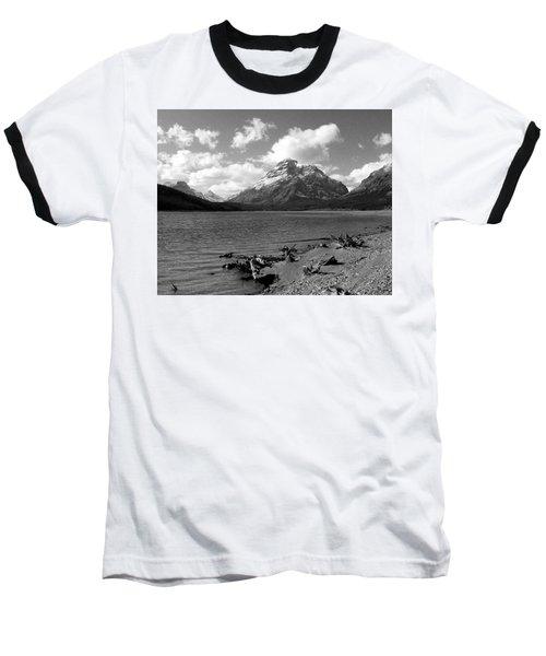 Rising Wolf, Two Med Shoreline Baseball T-Shirt