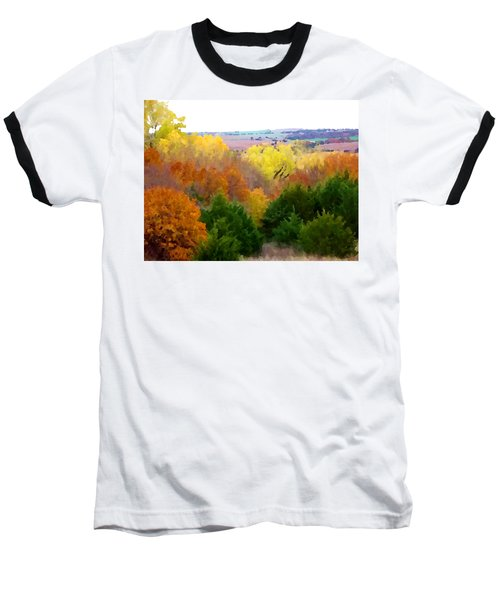 River Bottom In Autumn Baseball T-Shirt
