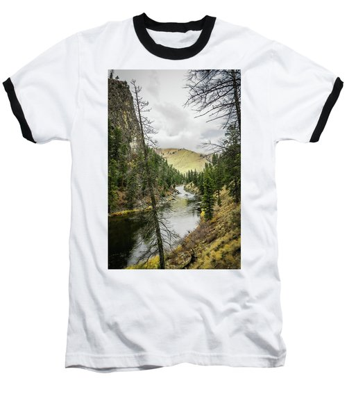 River In The Canyon Baseball T-Shirt