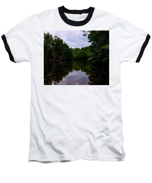 Baseball T-Shirt featuring the digital art River Reflections by Chris Flees