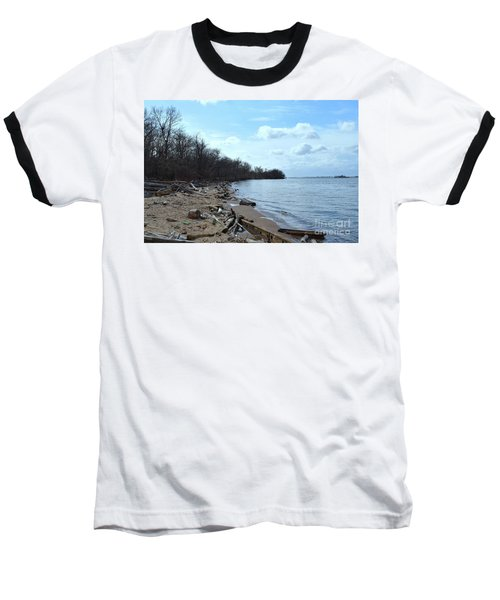 Delaware River Shoreline Baseball T-Shirt