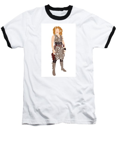 Baseball T-Shirt featuring the digital art River Song by Jean Haynes