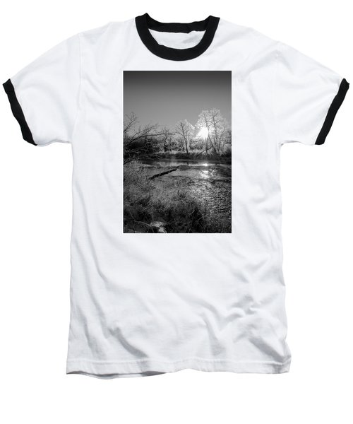 Baseball T-Shirt featuring the photograph Rivers Edge by Annette Berglund