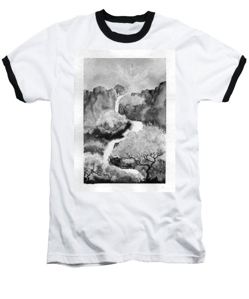 Riviere Celeste Baseball T-Shirt by Marc Philippe Joly