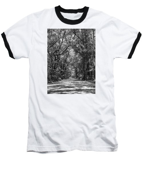 Road To Angel Oak Grayscale Baseball T-Shirt