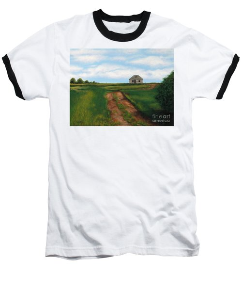Road To The Past Baseball T-Shirt by Billinda Brandli DeVillez