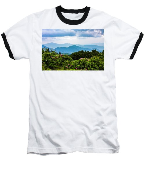 Roan Mountain Rhodos Baseball T-Shirt by Dale R Carlson