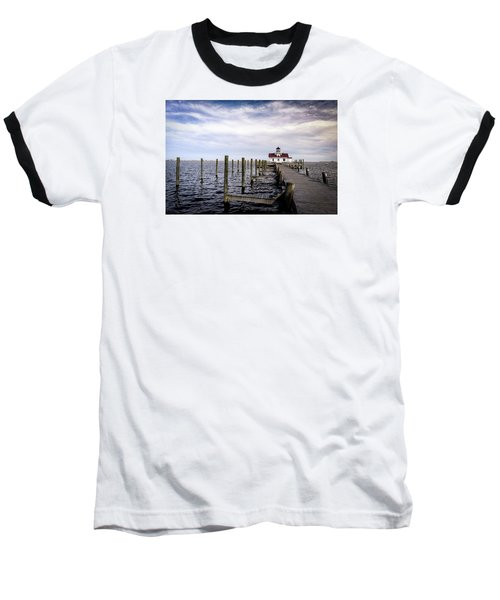 Roanoke Lighthouse - Manteo North Carolina Baseball T-Shirt
