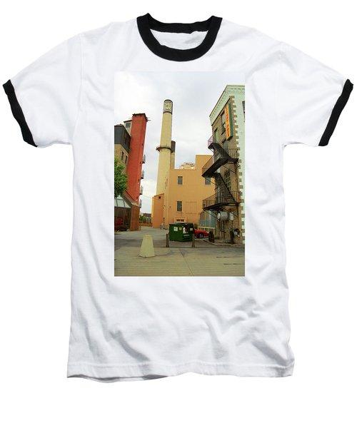 Rochester, Ny - Behind The Bar And Factory 2005 Baseball T-Shirt by Frank Romeo