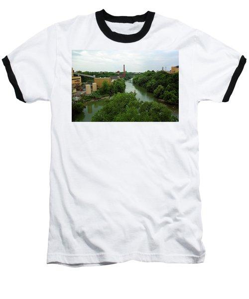 Rochester, Ny - Genesee River 2005 Baseball T-Shirt by Frank Romeo